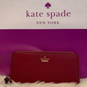 NWT Authentic Kate Spade Pebbled leather wallet